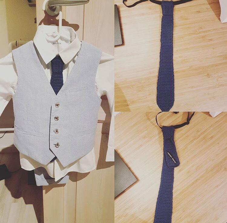 hæklet slips opskrift